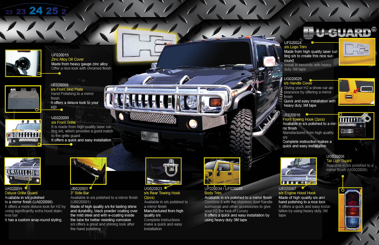 Body Trim Accessories | Hummer H12 | Auto EQ - SUV and Pickup ... | accessories for h2 hummer